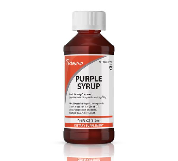 Actsyrup Purple Peach-Mint Flavor