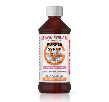 WOK SYRUP Purple Bubblegum Flavor (16oz)